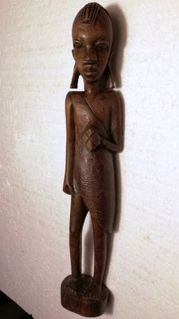 statueta deosebita statuie unicat sculptura lemn esenta tare vintage