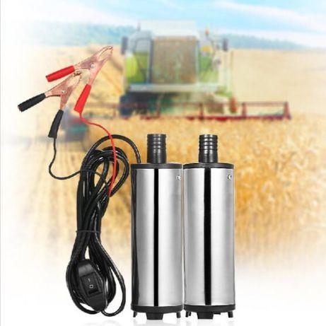 Pompa pentru motorina si ulei la 12V debit 12L/min corp inox