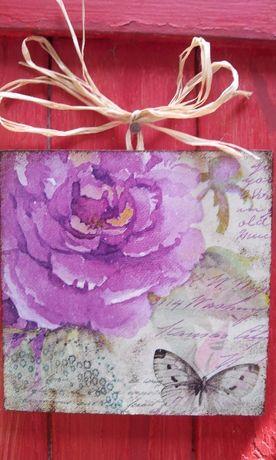 Единични пана с красиви картини. Декупаж, handmade