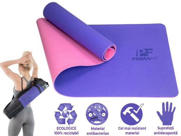 Saltea Yoga Fitness, Pilates, Gimnastica si Aerobic, Ecologic 183cm*61