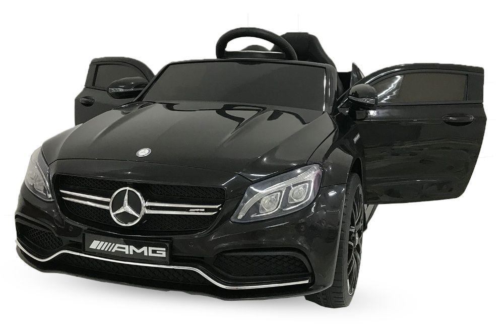 Masinuta electrica Mercedes C63 12V PREMIUM #Negru Zalau - imagine 1