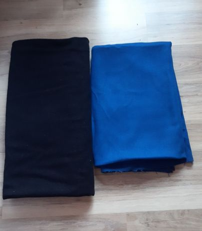 Драп 2 куска (чёрный и ярко синий)