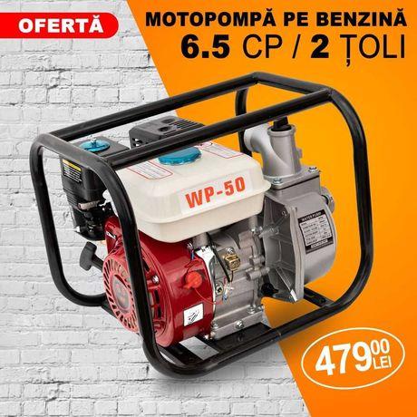 Motopompa de Apa 6.5cp 2 Toli pe Benzina WP-50