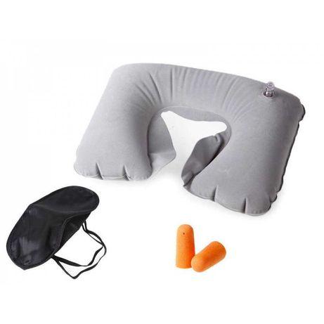 Възглавница за пътуване + превръзка за очите