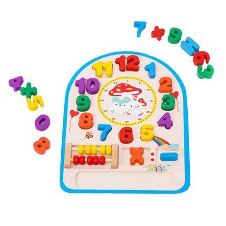 Jucarie educativa tip ceas cu numaratoare, 30 x 20 x 3 cm