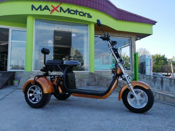 NEW 2020 Електрическа триколка MaxMotors HARLEY 1500W  GOLD