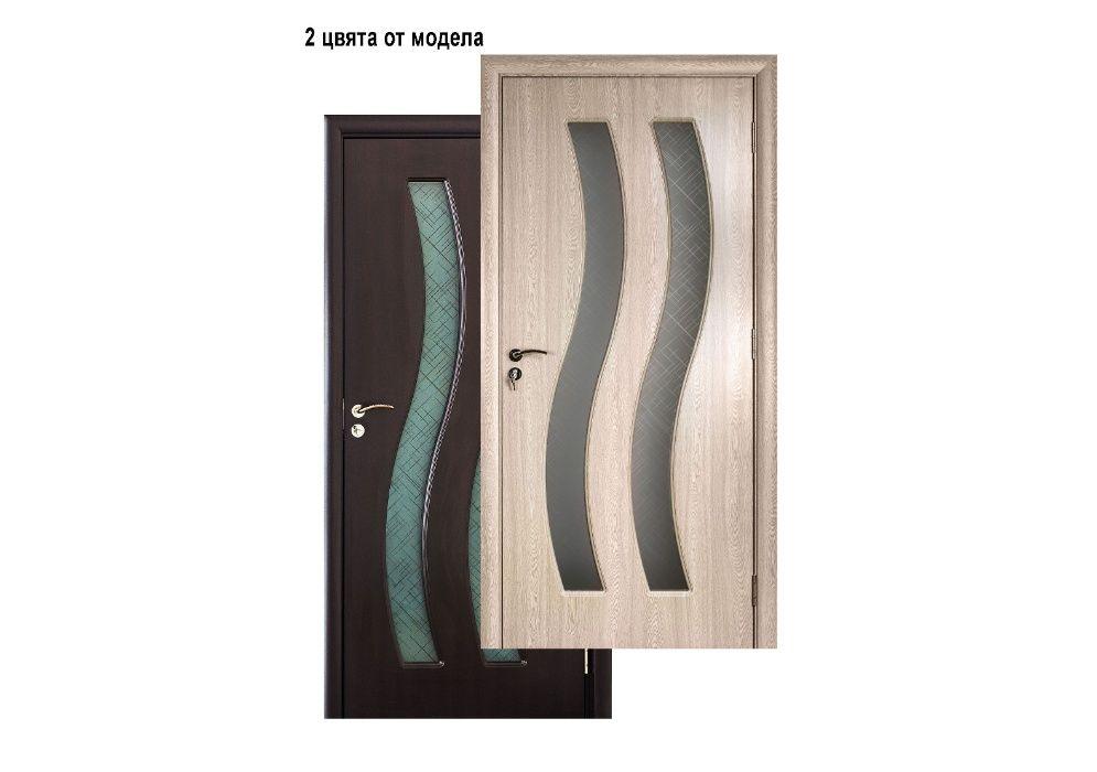 Интериорна врата със Стъкло, Венге, Светъл Дъб, МДФ врати, в ПРОМО !!