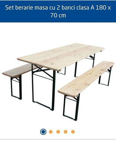 Masa cu scaune-bancheta