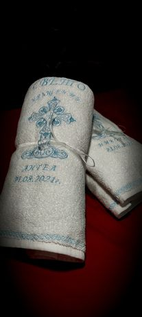 Бродирана кърпа за кръщене