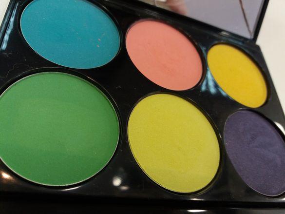 Сенки палитра 6 цвята Glazel