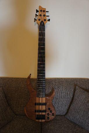 Vand chitara bas activ cu 6 corzi, Harley Benton BZ-6000 NT