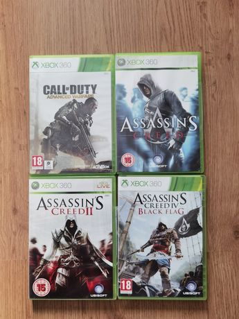 Vând jocuri Xbox 360 Call of Duty Advenced Warfare Assassins Creed