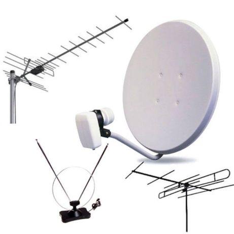 Установка спутник антенны6000