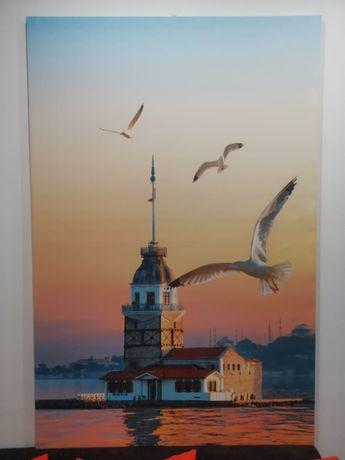 tablou living birou canvas mat 150x100cm cadru lemn istanbul