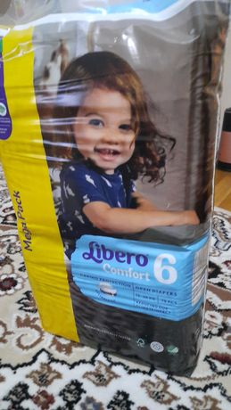 Либеро 6 памперс,  70 шт,  5000 тенге,