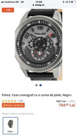 Ceas Police nou, factura garantie