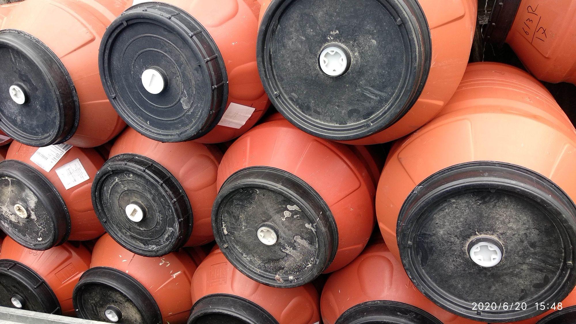 Butoaie plastic gros 220 litri butoi cu capac mare alimentare