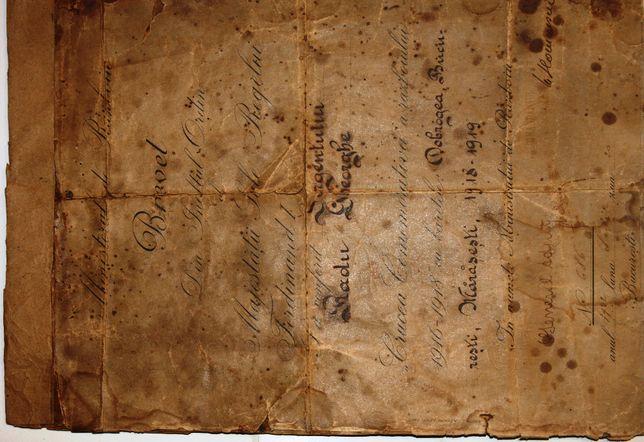 Brevet pentru Crucea Comemorativă a Războiului
