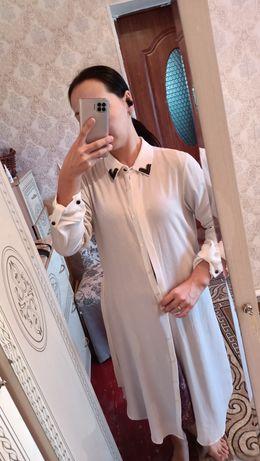 Белая рубашка длинная