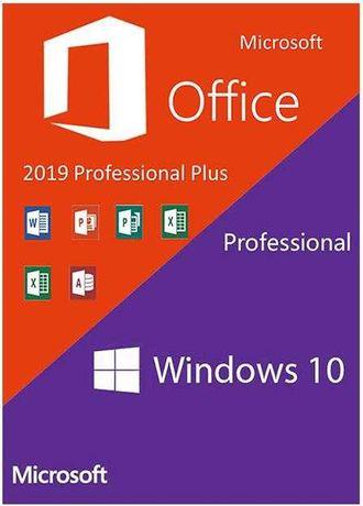 DVD bootabil - Windows 10 Pro + Office Professional 2019 cu licenta.