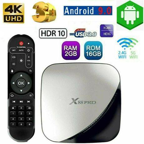 Тв Бокс X88Pro Android 9.0 TV Box 2GB / 16GB Quad Core 64 Bit 4K