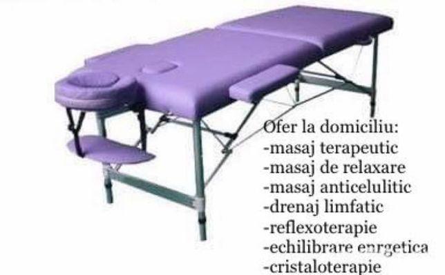 La domiciliu masaj terapeutic, relaxare, anticelulitic, reflexo