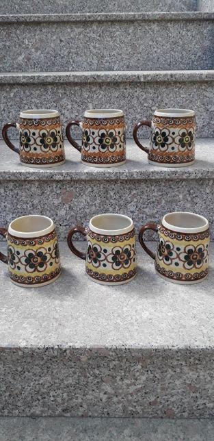 Set de 6 halbe din ceramica