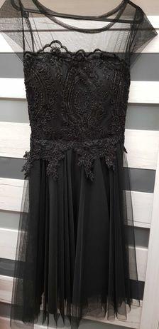 Официална черна рокля за повод