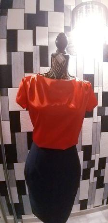 Bluza roșie satin Nife S-M