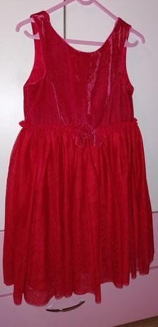 Vând rochiță de catifea elegantă cu sclipici pt. 7-8 ani