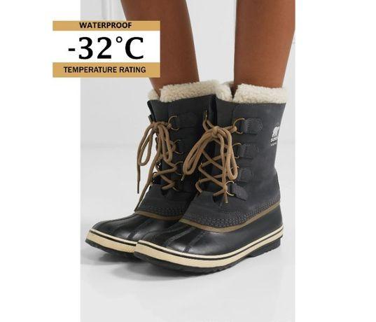 Sorel 37, нови, оригинални дамски зимни боти, апрески, естествена кожа