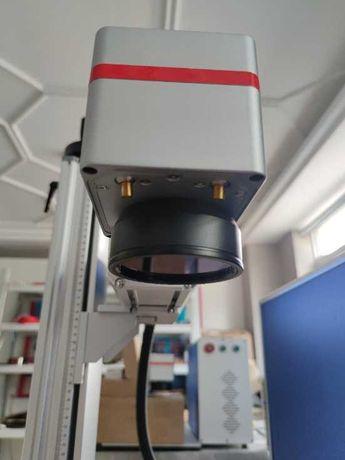 Лазерный гравер, лазерный маркер 30w. С поворотной осью.