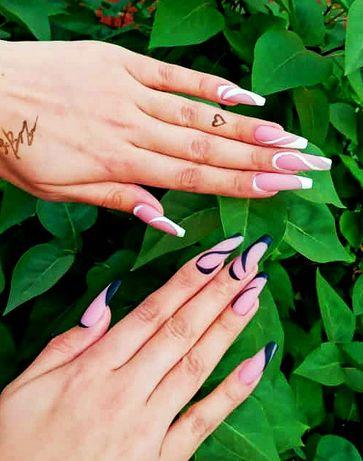 Маникюр, гелевое покрытие, наращивание ногтей