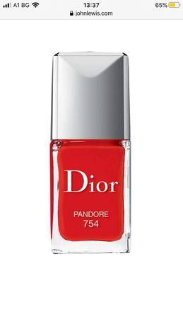 Dior лак за нокти Pandore 754 ярко червен