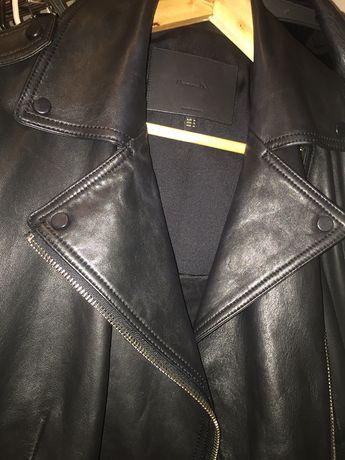 Massimo dutti кожанная куртка