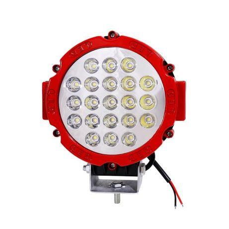 Proiector LED Auto Offroad 63W 12V-24V, 5200 Lumeni, Rosu, Spot Beam