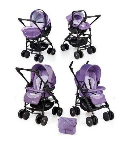 Бебешка количка Giordani Elixo Violet 3 в 1