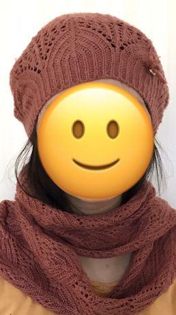 Бирет , шарф и перчатки. Комплект Mayoral Испания. На девочку 18-12 ле
