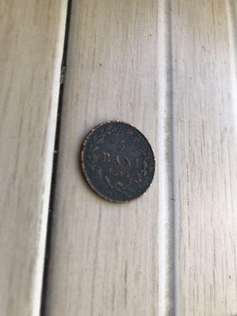 Moneda 5 bani 1867