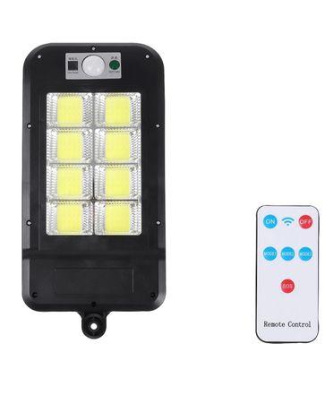 Proiector solar lampa stradala 160 led COB senzor miscare telecomanda