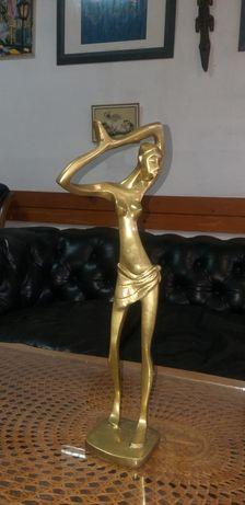 Статуетка негърка месинг