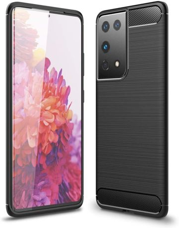Луксозен калъф / кейс / гръб Carbon за Samsung Galaxy S21 Plus Ultra