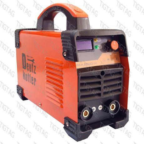 Инвенторен електрожен Deutz Koffer ММА 240DK с кабели и гаранция