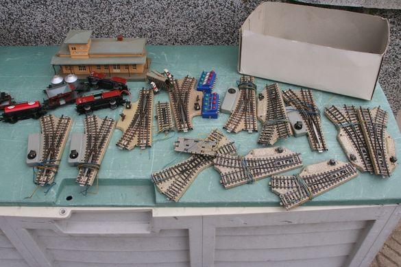 Стари метални релси, стрелки за влакче Marklin HO