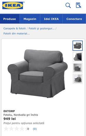 Ikeea 2fotoliu Nordvalla gri inchis-negru+ masa cafea cu roti si spati