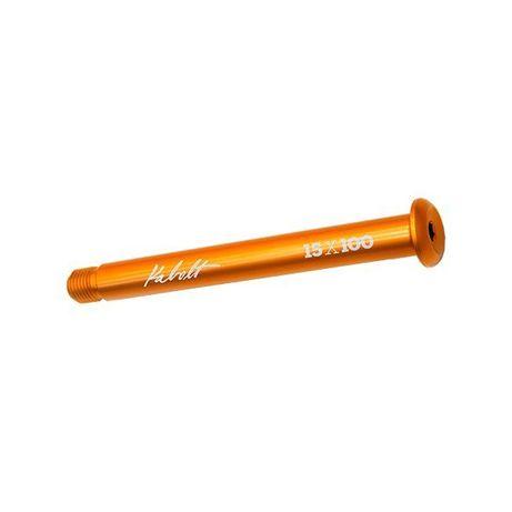 15x100mm Fox Kabolt Orange Thru Axle / Предна Проходна Ос