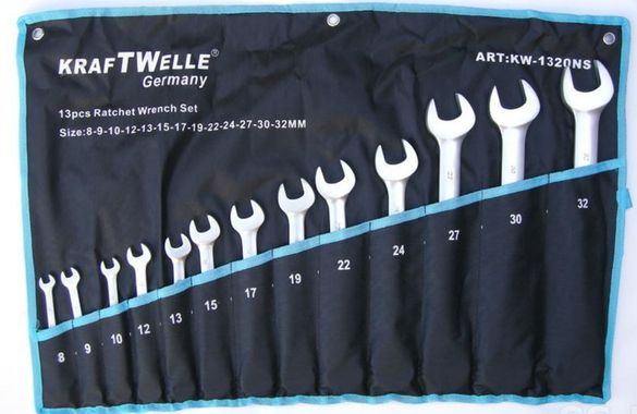 Зведогаечни тресчотни ключове Нечупещи KrafT от 8мм до 32мм