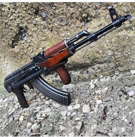 Arma airsoft asalt AK47 FULL METAL si lemn AEG M4A1 G36 sniper pistol