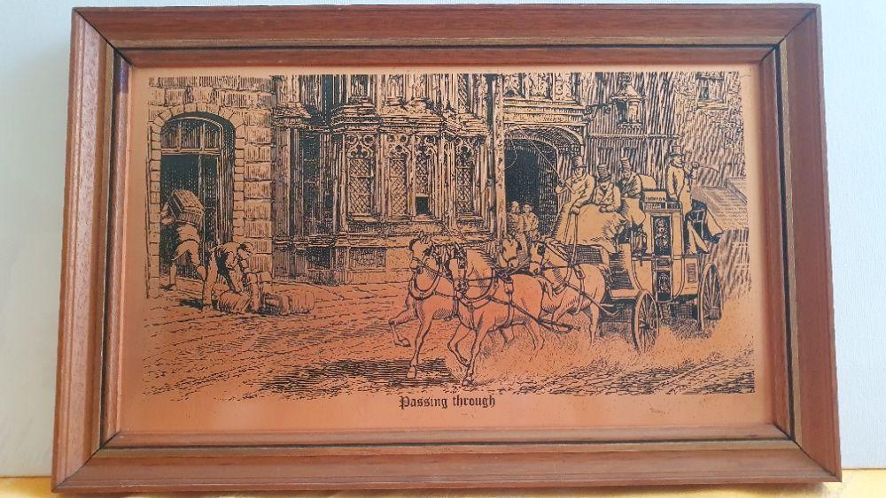 Metaloplastie cupru Anglia, BASORELIEF, APLICA DECORATIVA tablou rama Bucuresti - imagine 1