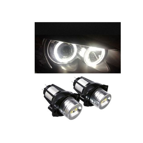 Led Marker Alb Angel Eyes 12W BMW Seria 3 E90/E91 - Set Becuri LED Far